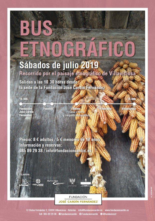 Bus Etnográfico . Sábados de Julio @ Fundación Jose Cardin Fernández | Villaviciosa | Principado de Asturias | España
